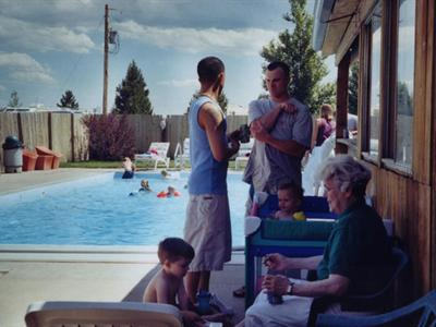 Have Fun In The Sun By Our Gound Heated Swimming Pool OPEN JUNE 15 THROUGH SEPTEMBER 1 Privacy Fence Blocks Good Old Wyoming Breeze