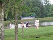 fishing in  lake in an rv park near Asheville